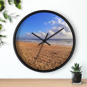 This Clouds at Cotton Tree Beach Wall Clock is available to buy from Beach Scenes online store.