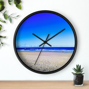 This Deep Blue Sky Beach Wall Clock is available to buy from Beach Scenes online store.