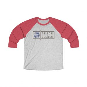 This Tri-Blend 3/4 Mens Raglan Tee is available to buy from Beach Scenes online store.