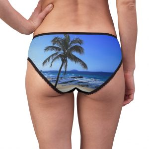 This Palm Tree Briefs Black is available to buy from Beach Scenes online store.