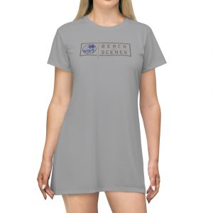 This Beach Scenes T-Shirt Dress in Spanish Gray is available to buy from Beach Scenes online store.