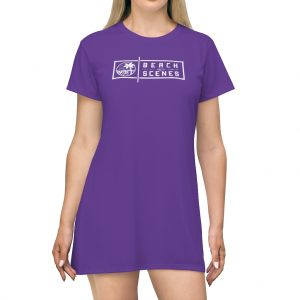 This Beach Scenes T-Shirt Dress in Spanish Violet is available to buy from Beach Scenes online store.