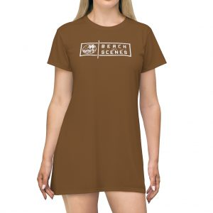 This Beach Scenes T-Shirt Dress Pullman Brown is available to buy from Beach Scenes online store.