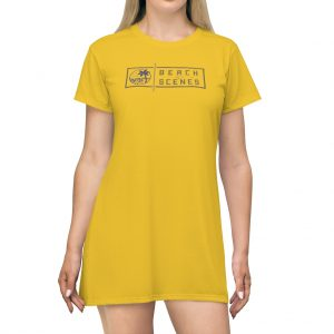 This Beach Scenes T-Shirt Dress Mello Yello is available to buy from Beach Scenes online store.