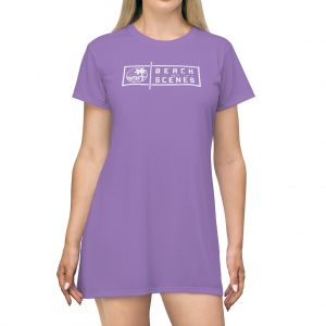 This Beach Scenes T-Shirt Dress in Middle Blue Purple is available to buy from Beach Scenes online store.